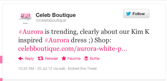 Celeb Boutique's Offensive Tweet