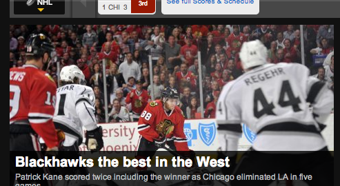 Yahoo Sports NHL Fail